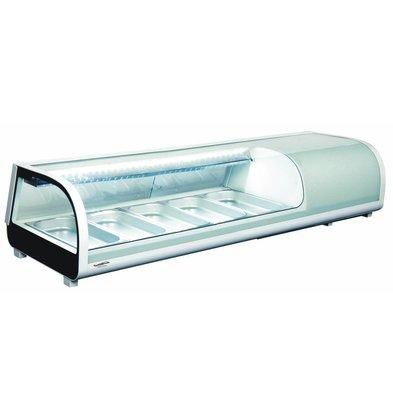 Combisteel Vitrine à Sushi    52 Litres   Eclairage  LED   1352x420x(h)265
