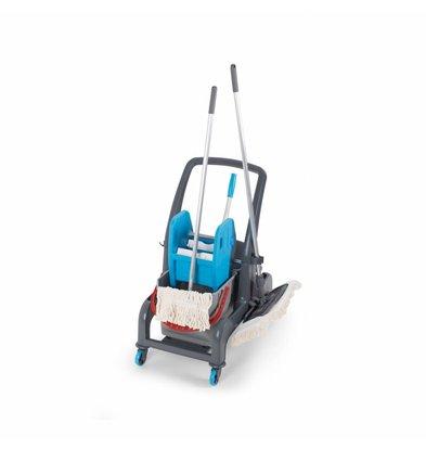 Combisteel Chariot de Nettoyage | avec Essoreuse | 10 Kilos | 730x580x(h)920mm