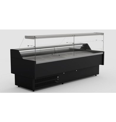 Combisteel Comptoir Vitrine Réfrigérée |Poids 175kg  | 230 V | 1500x815x(h)1230mm | Disponible en Plusieurs Tailles