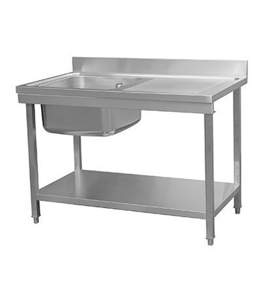 Combisteel Table de Prélavage | Avec Etagère | 1200x700x(h)850mm