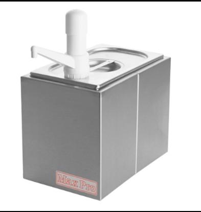 CHRselect Distributeur de Sauces Max Pro - 1x - Plastique - 1/4 GN-200mm