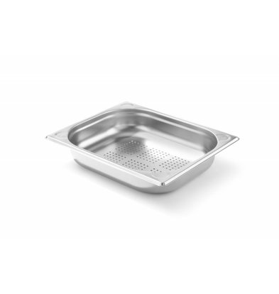 Hendi Bac GN 1/2 Perforé | Inox | 65 mm | 325x265x(h)65mm