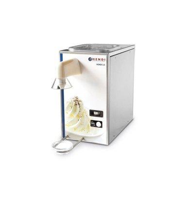 Hendi Machine à Chantilly | Inox | 50 kg/h | Cuve 2,5 Litre | 230x400x(h)430mm