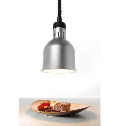 Hendi Lampe Chauffante | Ronde | Aluminium | Couleur Argent | 250W/230V | Réglable | ø175x(h)250mm