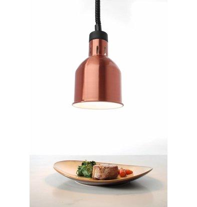 Hendi Lampe Chauffante | Ronde | Aluminium | Couleur Cuivre | 250W/230V | Réglable | ø175x(h)250mm