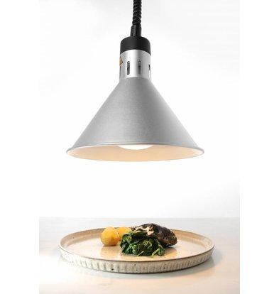 Hendi Lampe Chauffante | Conique | Aluminium | Couleur Argent | 250W/230V | Réglable | ø275x(h)250mm