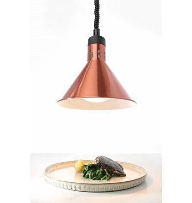 Hendi Lampe Chauffante | Conique | Aluminium | Couleur Cuivre | 250W/230V | Réglable | ø275x(h)250mm