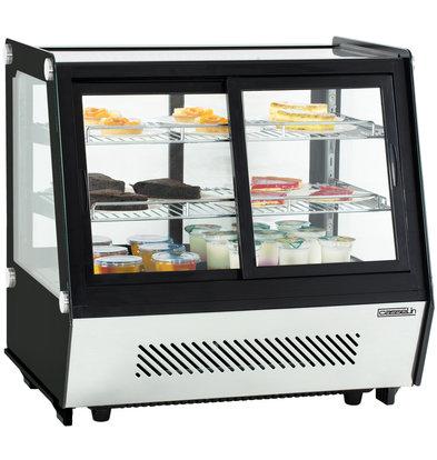 Casselin Vitrine Réfrigérée | Modèle de Table | double portes | 125L | 710x568x(h)686mm