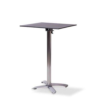 XXLselect Table de Fête | Haute | Pied en Aluminium | Plateau de Table Stratifié | Noir | 700x700mm | Lot de 5 Pièces