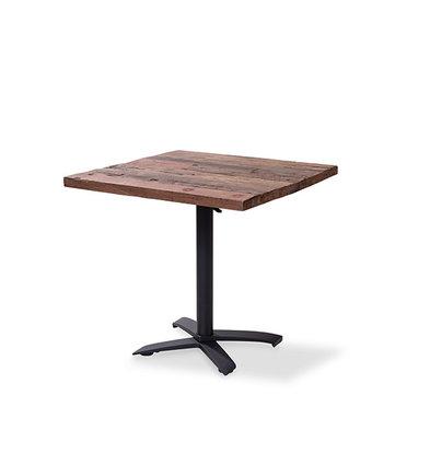 XXLselect Table de Fête | Basse | Pied Noir | Plateau en Bois | Carré | 800x800mm | Lot de 5 Pièces