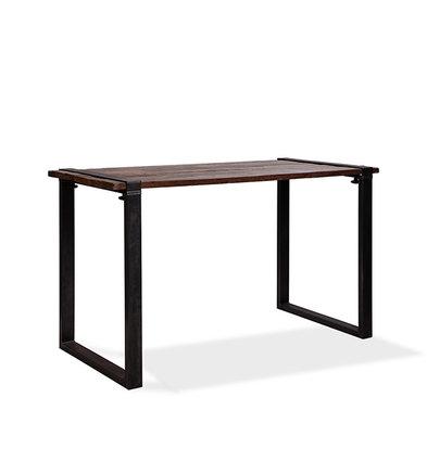XXLselect Table Haute | Modèle Old Dutch | Cadre en U en Acier | Plateau en Bois | 1800x800x(h)1100mm