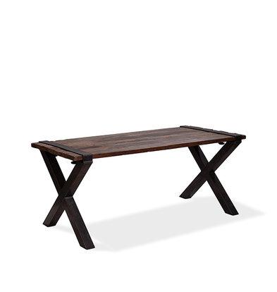 XXLselect Table Basse | Modèle Old Dutch | Cadre en X en Acier | Plateau en Bois | 1800x800x(h)760mm
