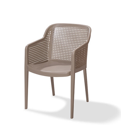 XXLselect Chaise de Terrasse Osaka | Empilable | Plastique avec Aspect Bois | 560x600x(h)820mm | Disponible en 5 Couleurs | Lot de 4 Pièces