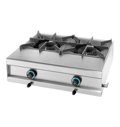 Modular Réchaud - Propane - 2 Brûleurs - 730x600x(h)250mm - 15 kW