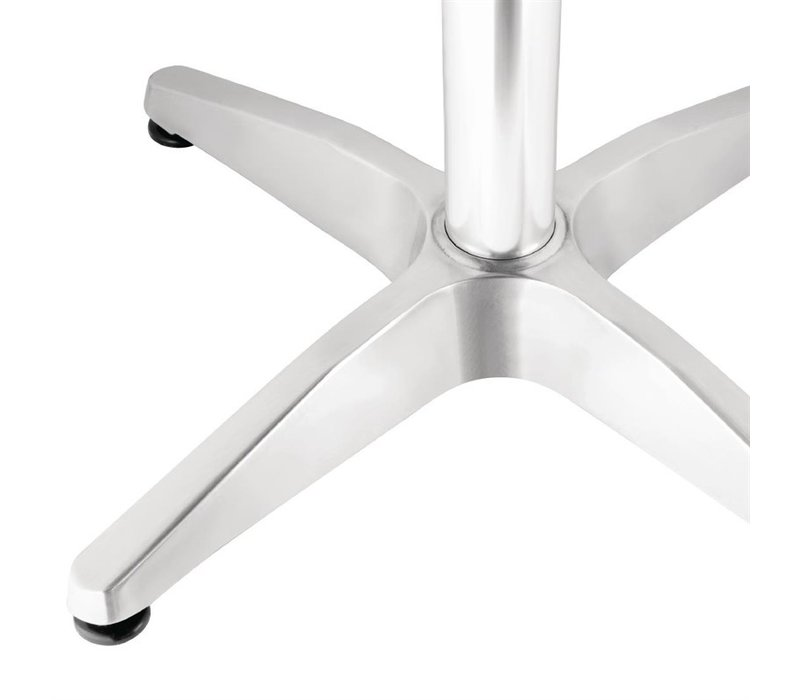 CHRselect Table Bistro Carrée | Plateau Inox | Pied Aluminium | 700x700x720(h)mm