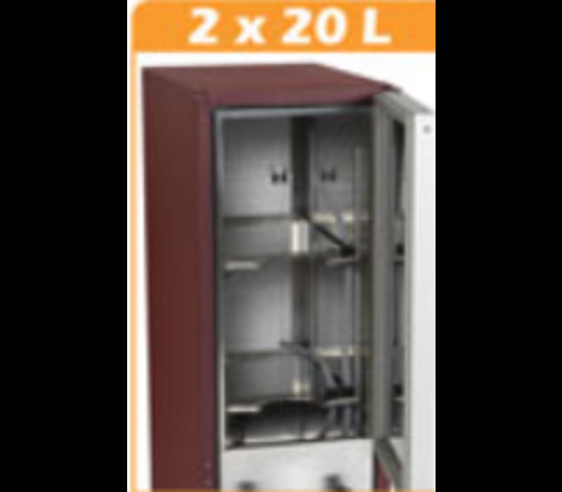 Diamond Distributeur à Vin   BiB   2x20L   392x595xh1120mm