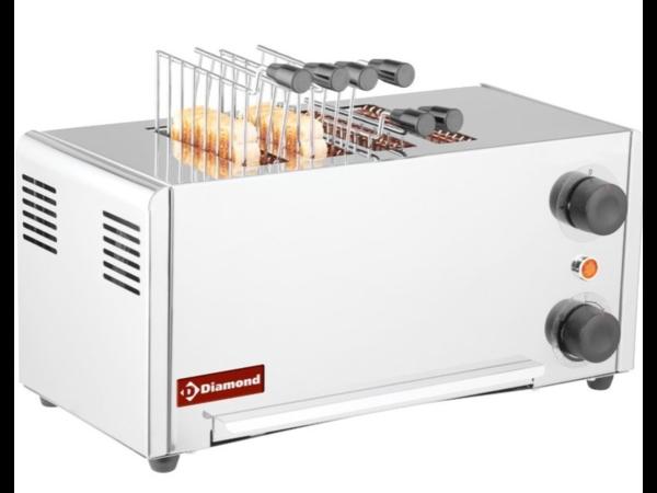 Diamond Grille-Pain | en Acier Inoxydable | 4 Pinces | 2,15kW | 430x200x (H) 225mm
