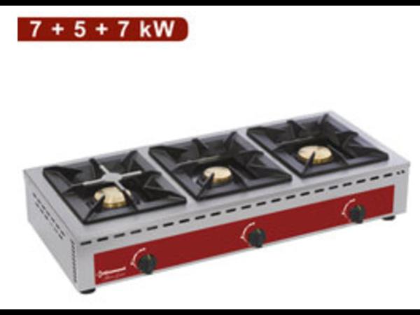 Diamond Réchaud de Table | 3 feux vifs (7+5+7 kW)