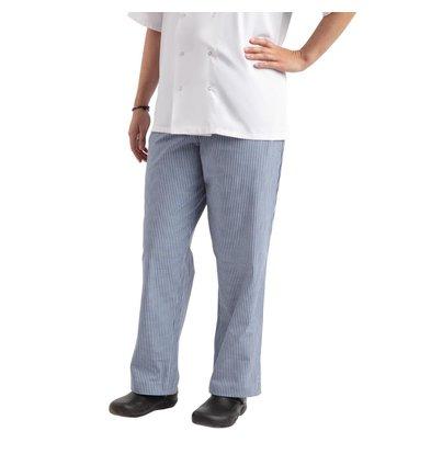Whites Chefs Clothing Pantalon de Cuisine | Whites Easyfit | A Carreaux Blanc/Bleu | Unisexe | Disponible en 6 Tailles