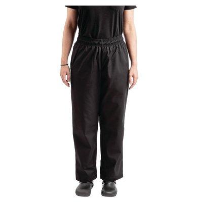 Whites Chefs Clothing Pantalon de Cuisine | Teflon Easyfit | Noir | Unisexe | Disponible en 6 Tailles