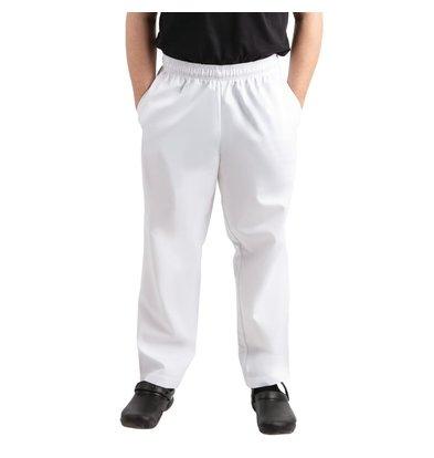 Whites Chefs Clothing Pantalon de Cuisine | Whites Easyfit | Blanc | Unisexe | Disponible en 6 Tailles