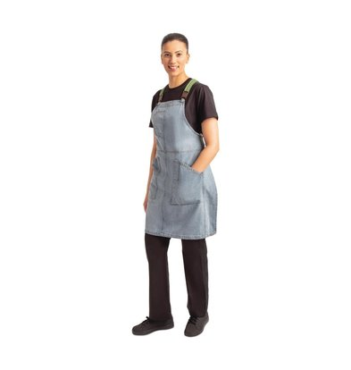 Chef Works Urban Tablier Bavette Denim | Berkeley Chef Works Urban | Bleu Clair | 100% Coton Denim