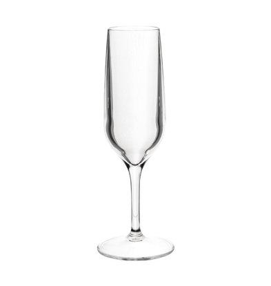 Roltex Flûte à Champagne | Plastique | sans BPA | 19cl | Ø58x(H)210mm