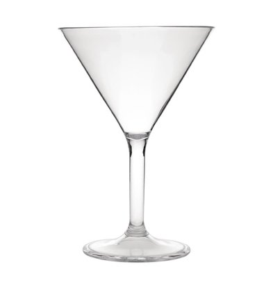 Kristallon Verre à Martini   Polycarbonate   30cl   Lot de 12 Pièces