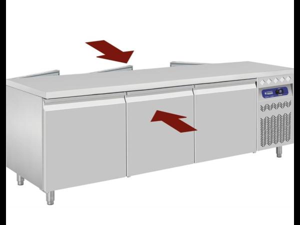 Diamond Table Frigorifique | Double Ouverture | Ventilée | 2x3 Portes | GN 2/1| 548L