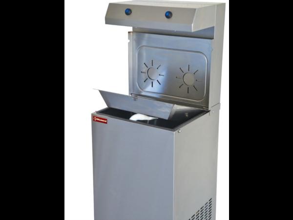 Diamond Refroidisseur d'Eau | inox | 150 L/h | Double Verseur | 400x385x(h)1400mm