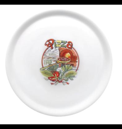 Saturnia Assiettes à Pizza | Porcelaine | avec Dessin | 310mm | Disponible en 4 Dessins