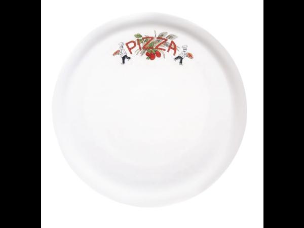 Saturnia Assiettes à Pizza | en Porcelaine |310(Ø)mm|  Saturnia décor PIZZA