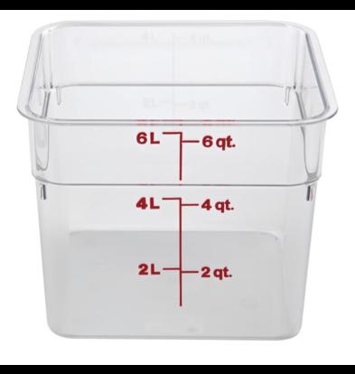 Cambro Boîte à Ingrédients | Carré | Polycarbonate | Disponible en 3 Tailles