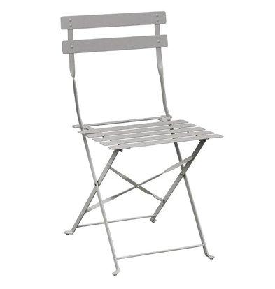 CHRselect Chaises de Terrasse | Acier Gris | Lot de 4
