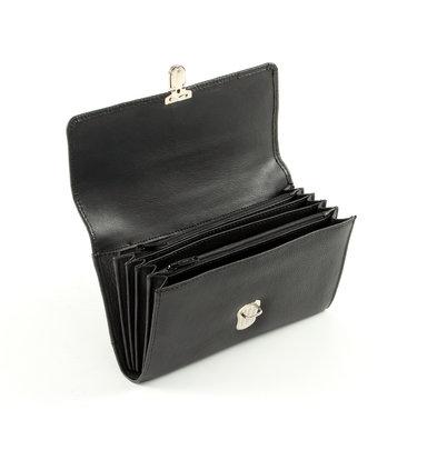 Pavelinni Portefeuille pour Restauration | Cuir | 5 Compartiments + Porte-Monnaie | avec Ceinture en Nylon | 200x30x105mm
