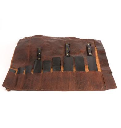 Pavelinni Porte-Couteau en Cuir | Convient pour 10 Couteaux