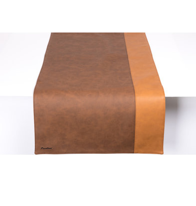 Pavelinni Chemin de Table Stripe | Cuir | Double Face | 450x1200mm | Disponible en 10 Couleurs