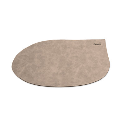 Pavelinni Set de Table Drop Vintage | Cuir | Rond | 300x450mm | Disponible en 8 Couleurs