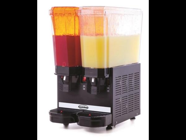 Combisteel Distributeur de boissons froides Pour les boissons claires 2x 20 litres | + 5 / + 10 ° C | 365x520x (H) 665mm