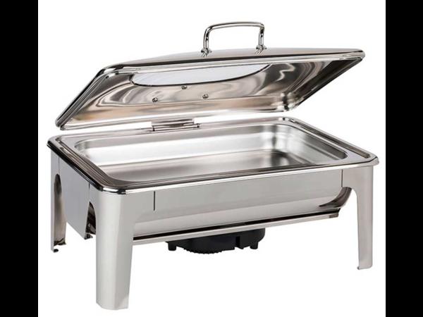 APS Chafing Dish Inox | | GN 1/1| Neutre ou Électrique | 420x600x300mm | Possibilité d'Ajout de Plaque à Induction