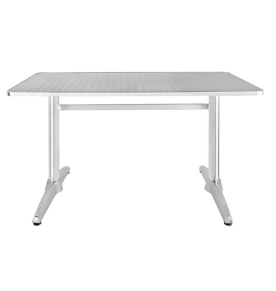 CHRselect Table Rectangulaire Inox | Pieds Aluminium | 1200x600x720(h)mm