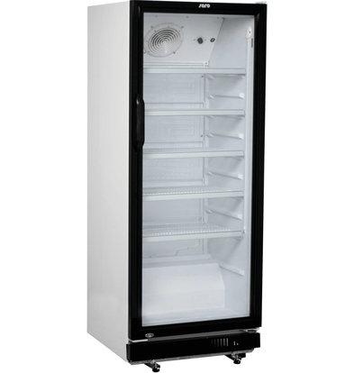 Saro Réfrigérateur avec Porte en verre  4 étagères ajustablesÉclairage LED  310 litres  620x635x (H) 1562mm