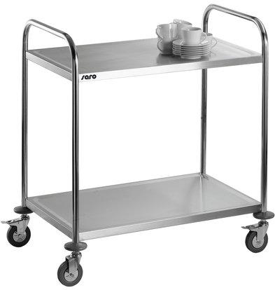 Saro Chariot de Service 2 plateaux |INOX  |860x540x940 (H)mm