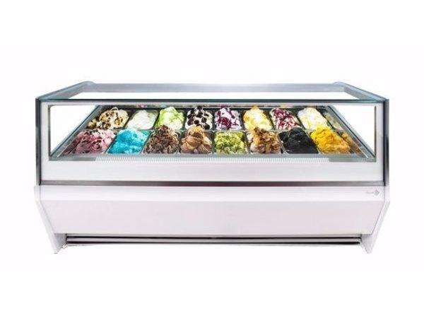 La Squadra Comptoir à Crème Glacée | Scoop La Squadra Selecta 24 Gelato | 2205x1150x(H)1155mm | Disponible en 2 couleurs