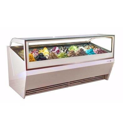 La Squadra Comptoir à Crème Glacée | Scoop La Squadra Selecta 16 Gelato | 1506x1150x(H)1155mm | Disponible en 2 couleurs