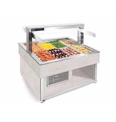 Afinox Buffet Gastronomique | 8/1 GN | Couleur Pruche | 1494x1212x(H)1481mm