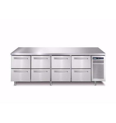 Afinox Comptoir Réfrigérés| 8 Tiroirs | 2260x700x(H)900mm