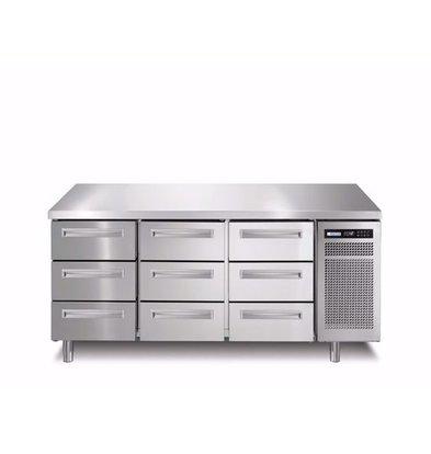 Afinox Comptoir Réfrigérés  9 Tiroirs   1780x700x(H)900mm