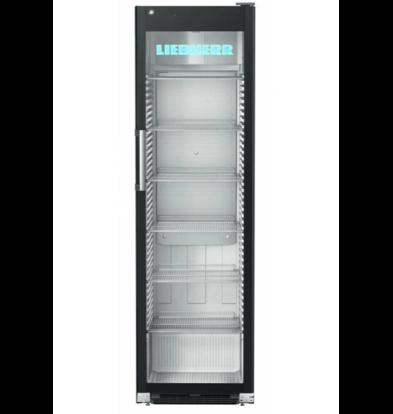 liebheer Vitrine Réfrigérée |  Acier Noir | Porte en verre  | 449 litres | FKDv 4523 | 600x696x (H) 2027mm