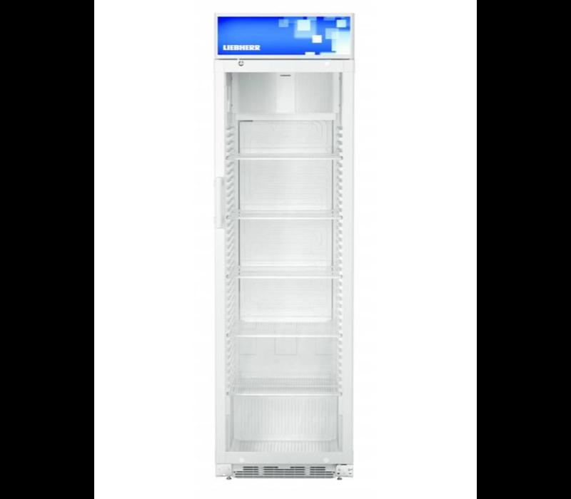 liebheer Vitrine Réfrigérée | Blanche | Porte en verre | 411 litres | 600x687x (H)2010mm